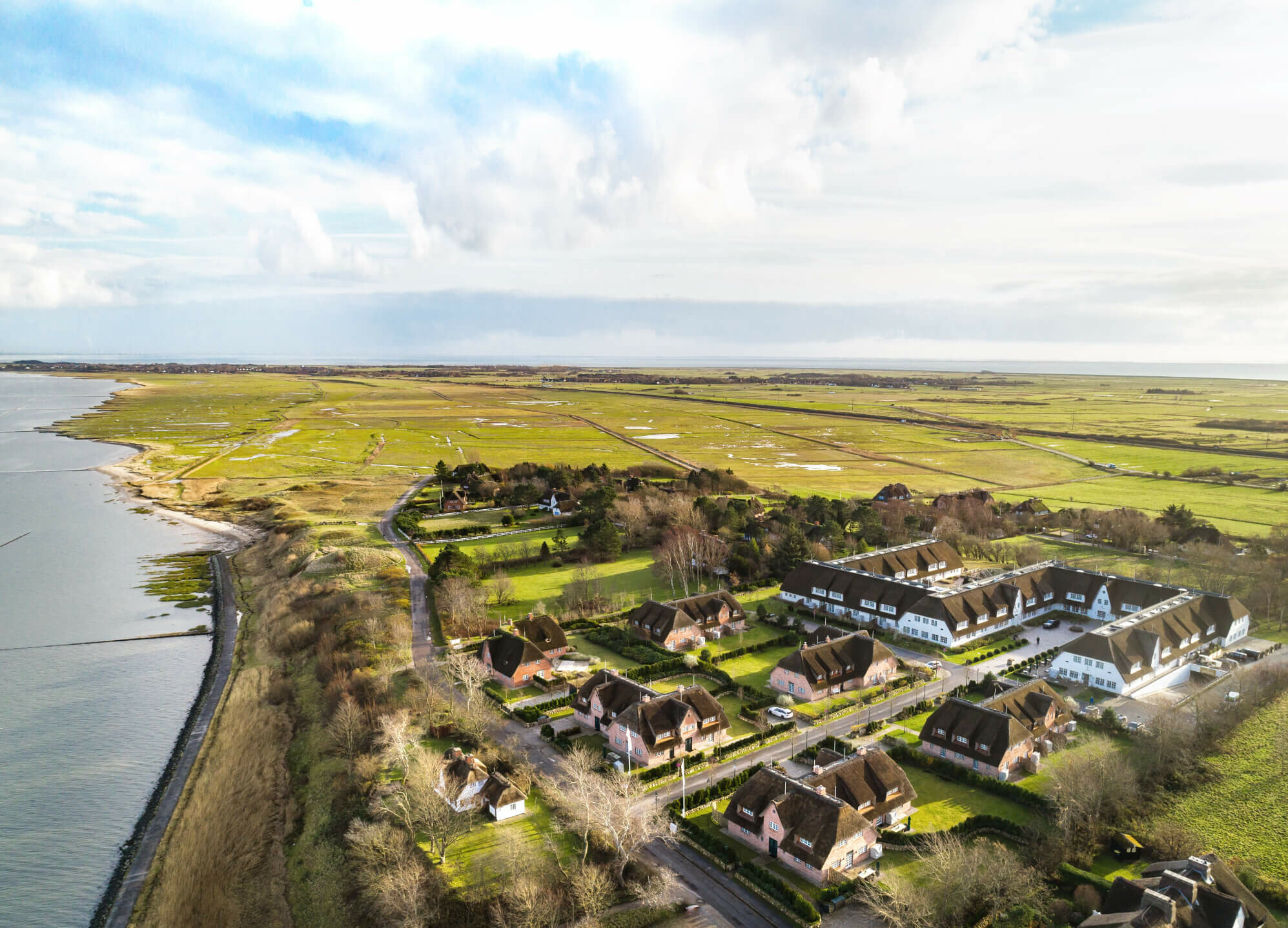Severin*s Resort & Spa bird's-eye view 5 star hotel Sylt