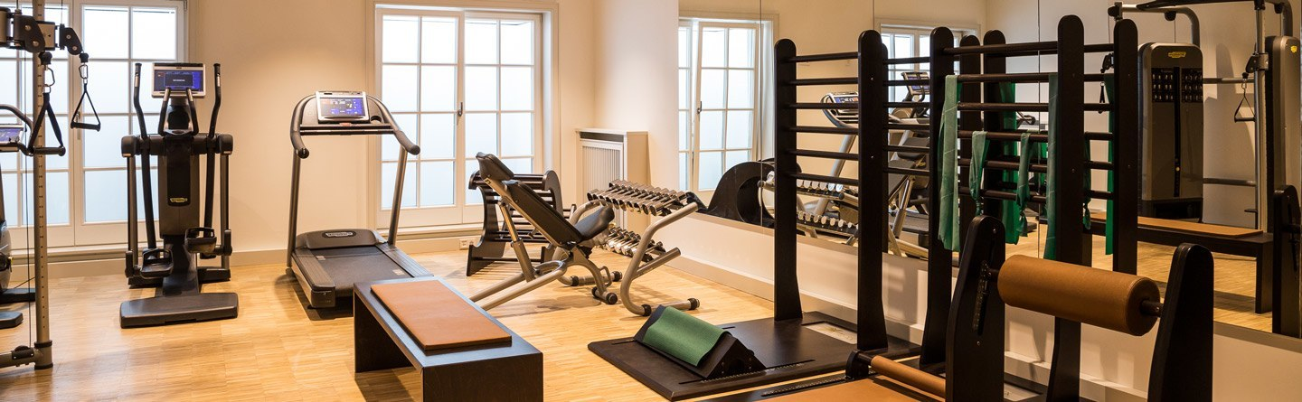 Fitness and Technogym equipment in the sports area of ​​the Hotel Severin*s on Sylt