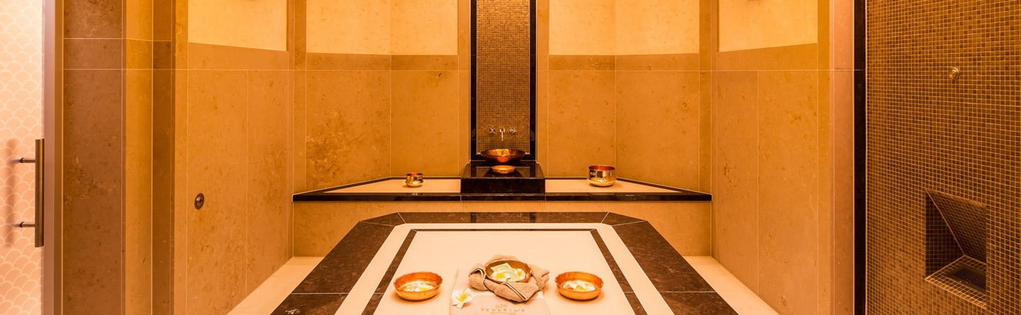 Interior view of the Hamam in the spa area of ​​Severin*s Resort and Spa on Sylt