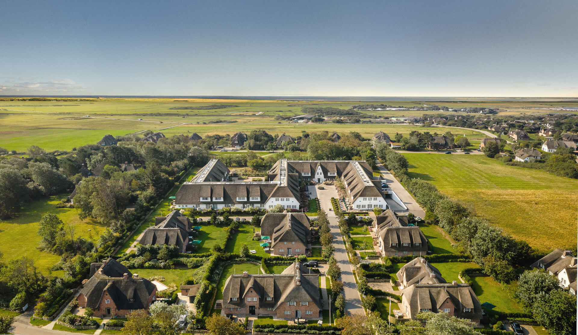 Aerial view of the resort | Severin's Resort & Spa Sylt
